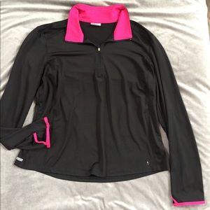 Danskin Athletic Active 1/4 Zip Pullover Top